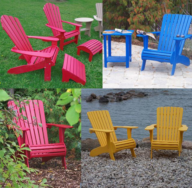Muskoka chairs: durable plastic patio furniture
