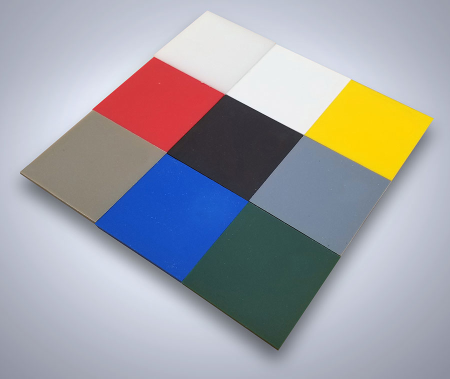 HDPE Colour swatches